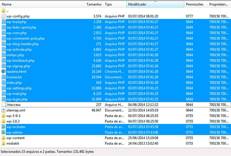 FTP WP 3.9.1 para 3.8.3