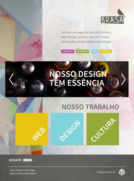 Primeiro layout que chegamos para a versão  atual de nosso site